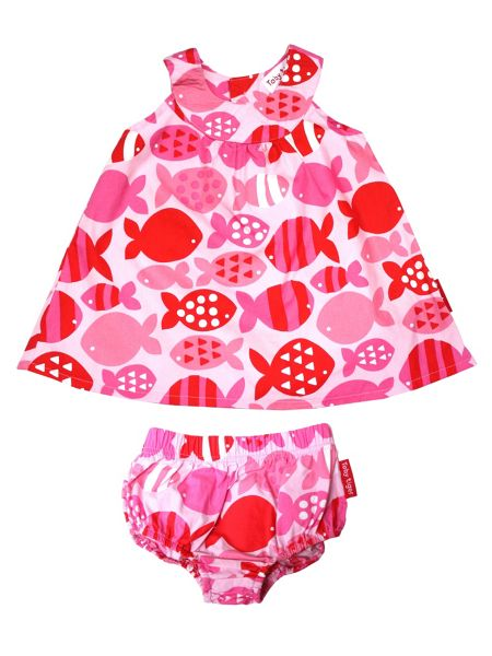 Toby Tiger Baby Girls Fish Baby Dress