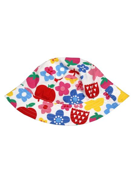 Toby Tiger Baby Girls Butterfly Flower Reversible Sun Hat