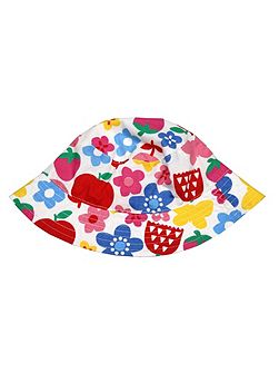 Toby Tiger Girls Butterfly Flower Reversible Sun Hat