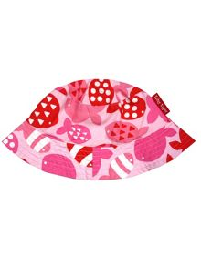 Toby Tiger Baby Girls Fish Reversible Sun Hat