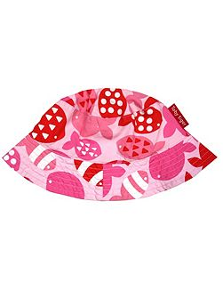 Baby Girls Fish Reversible Sun Hat