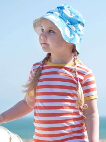 Toby Tiger Kids Whale Reversible Sun Hat