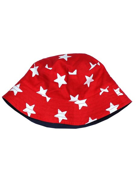 Toby Tiger Kids Red Star Reversible Sun Hat
