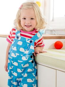 Toby Tiger Babies Whale Dungarees