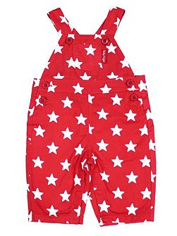 Babies Red Star Dungarees