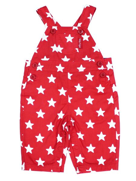 Toby Tiger Babies Red Star Dungarees