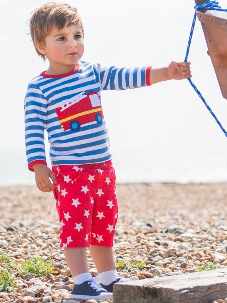 Toby Tiger Babies Red Star Shorts