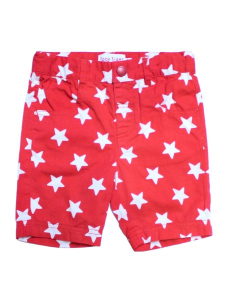 Toby Tiger Kids Red Star Shorts