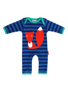 Toby Tiger Organic Cotton Fox Sleepsuit