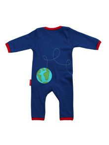 Toby Tiger Organic Cotton Rocket Sleepsuit