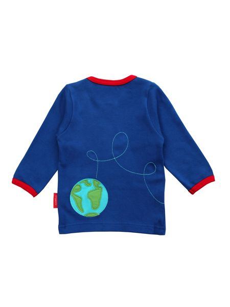 Toby Tiger Organic Cotton Rocket T-Shirt