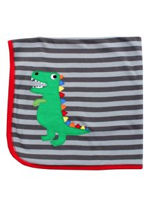 Toby Tiger T-Rex Organic Cotton Blanket