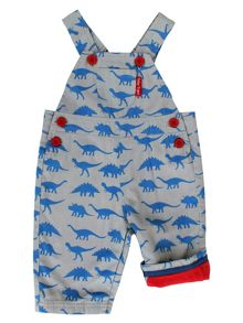 Toby Tiger Dino Cotton Dungarees