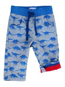 Toby Tiger Dino-Print Cotton Trousers