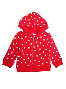Toby Tiger Girls Red Dot Organic Cotton Hoodie