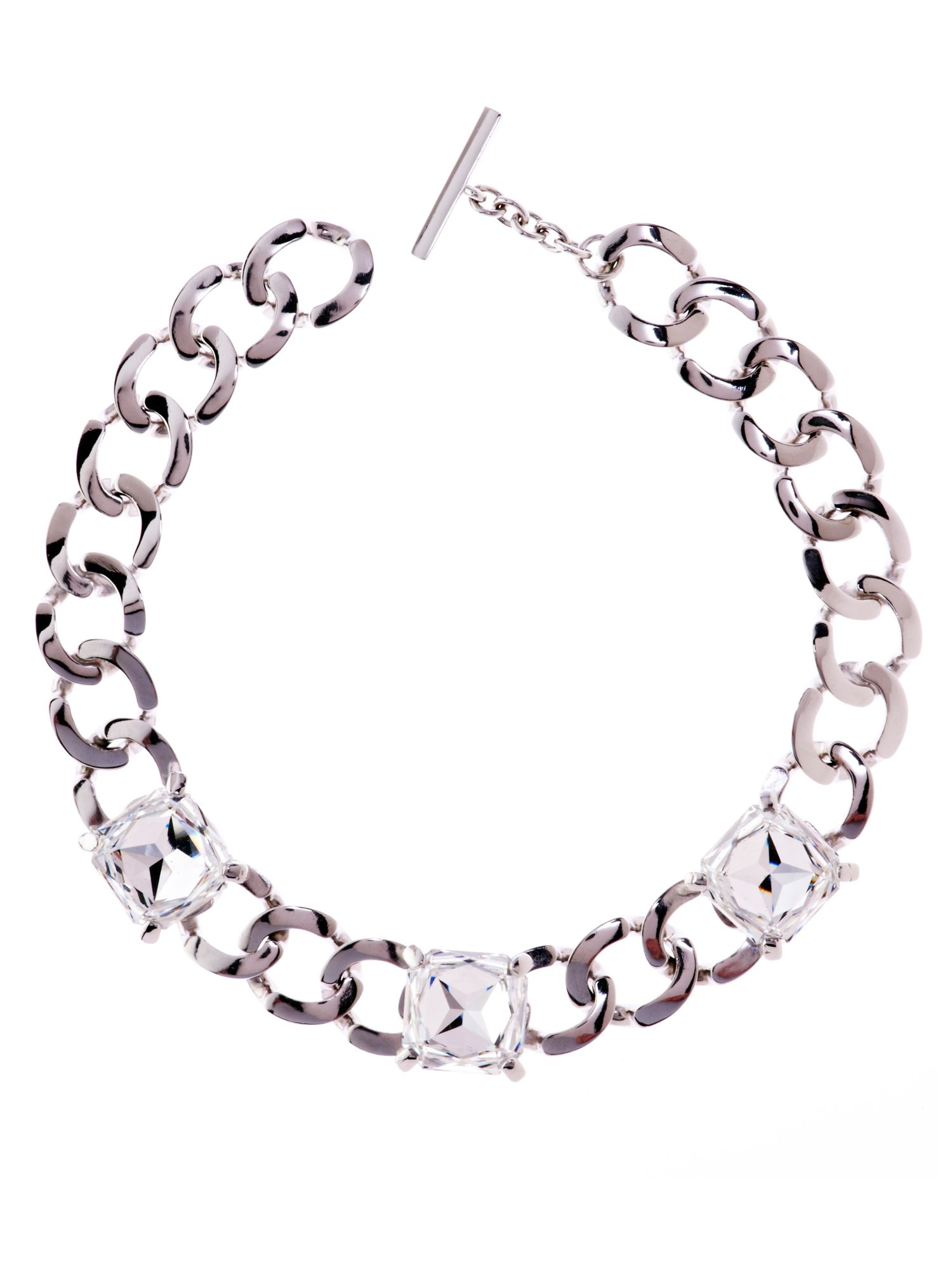 Karen Millen Karen Millen Diamante eye necklace