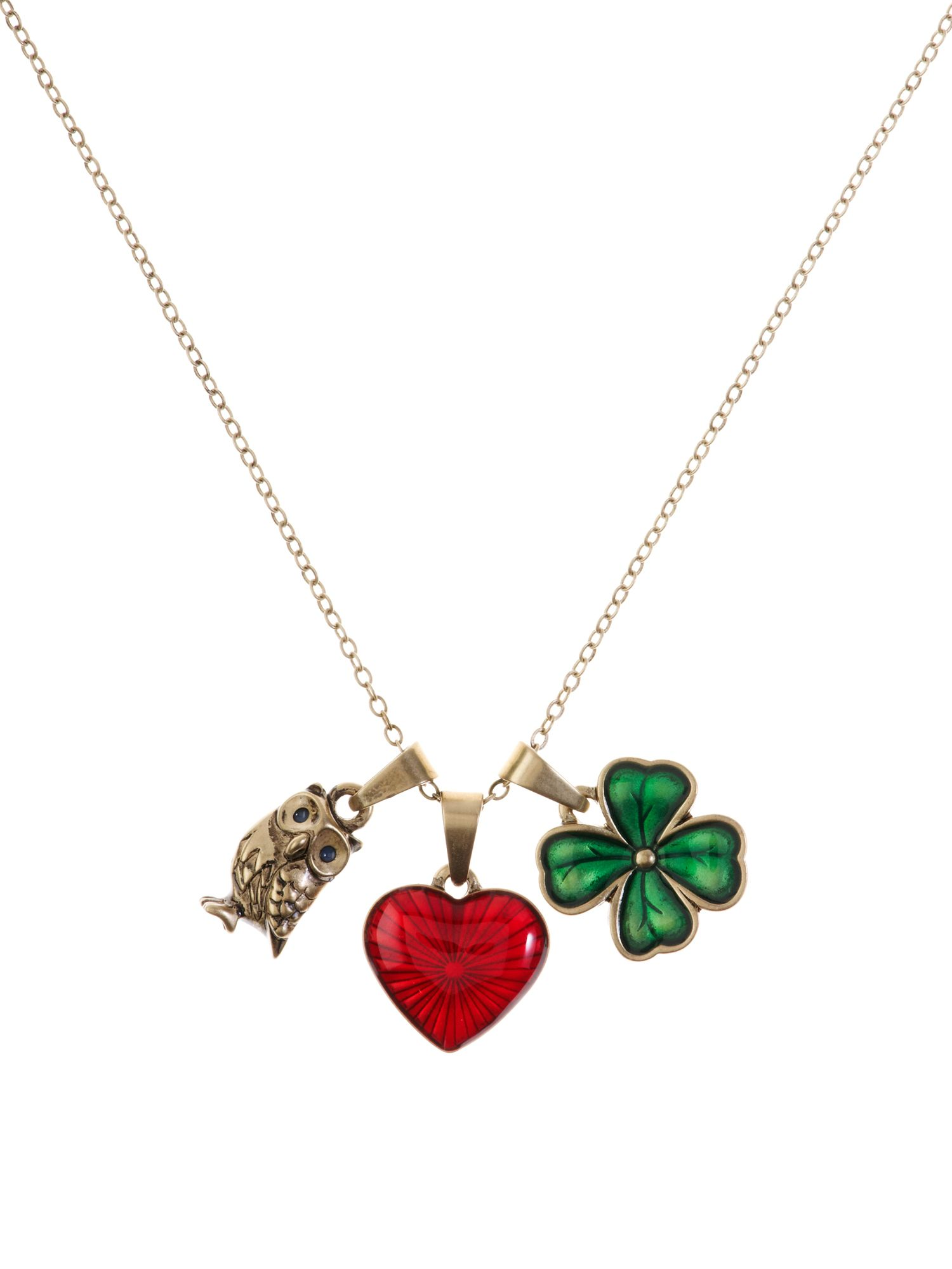 Cath Kidston Love luck wisdom necklace