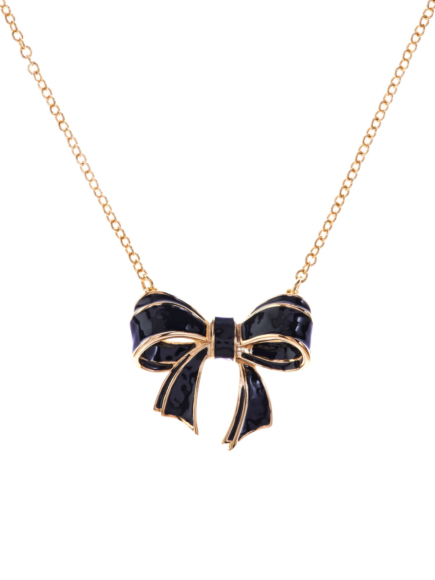 Ted Baker Enamel small bow necklace