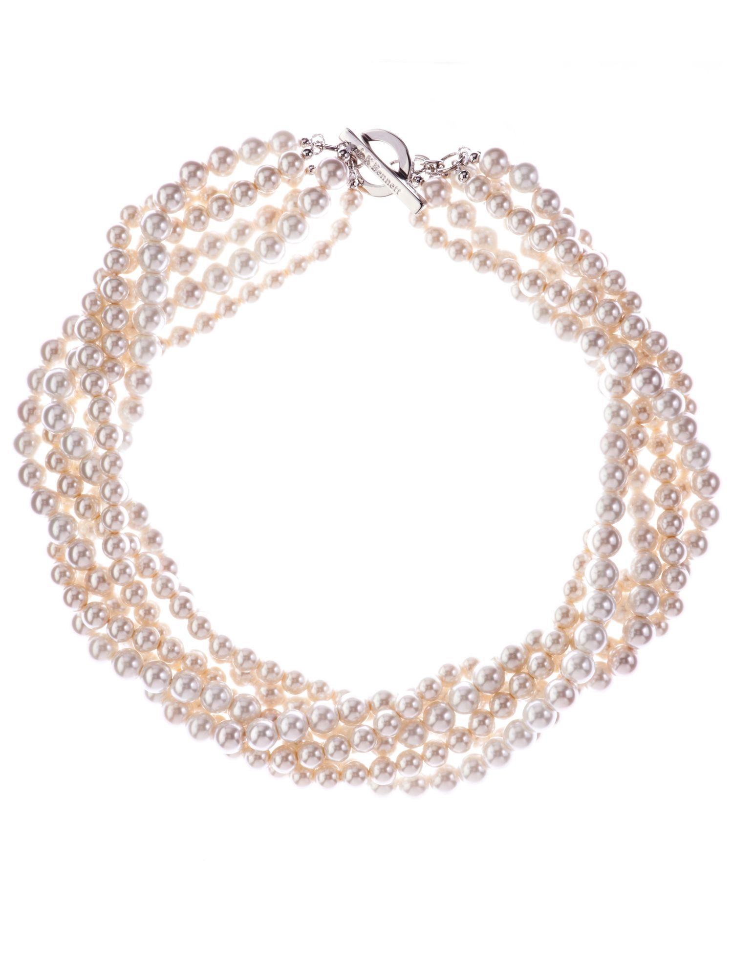 L.K. Bennett Twisted pearl necklace