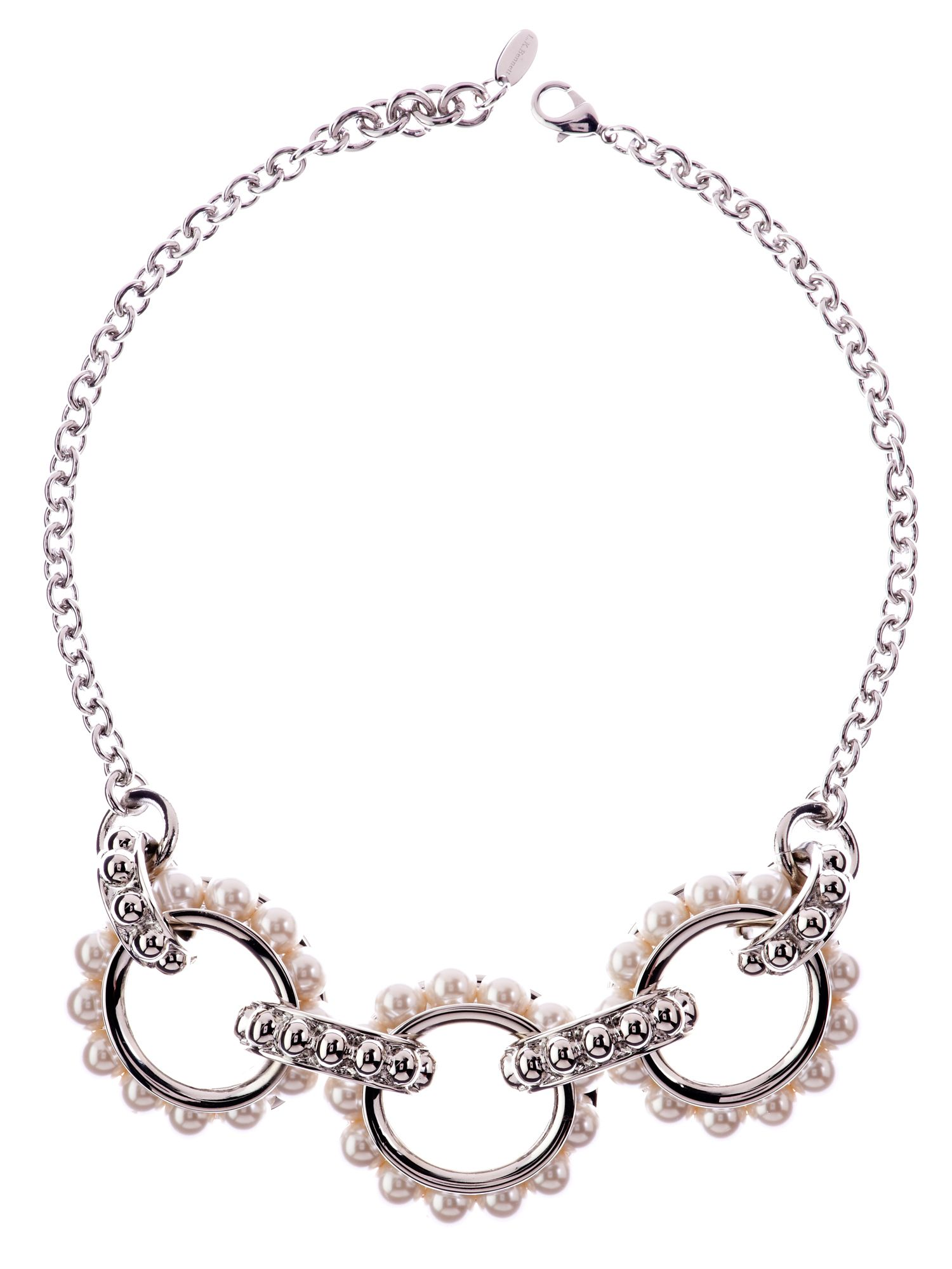 L.K. Bennett Statement pearl chain necklace