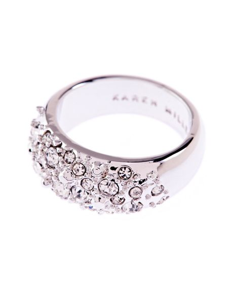 Karen Millen Slim Encrusted Metal Ring