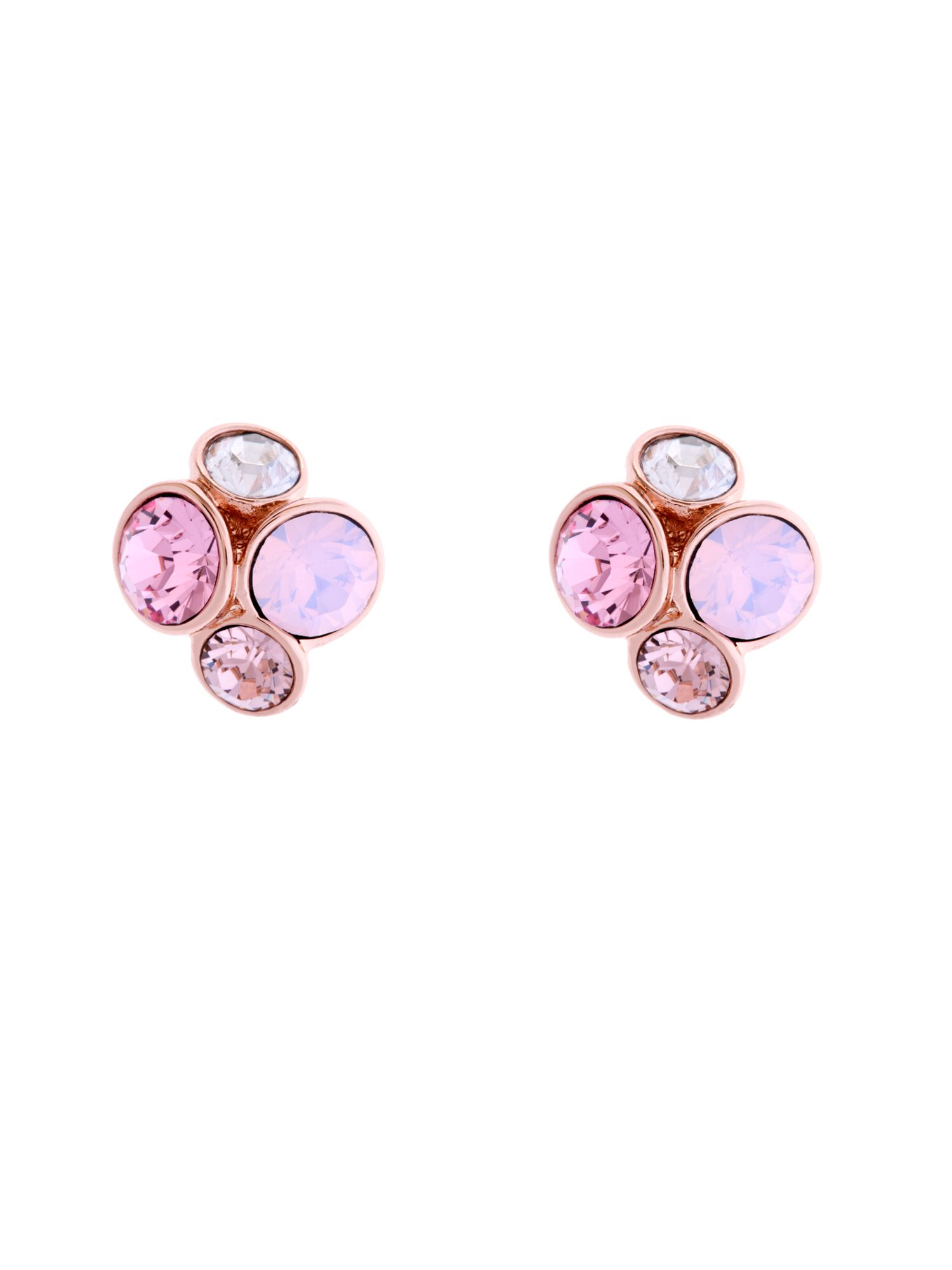 Lynda Pink Jewel Cluster Stud Earrings