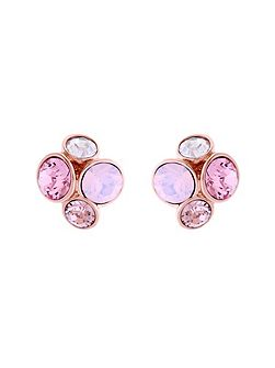 Ted Baker Lynda Pink Jewel Cluster Stud Earrings