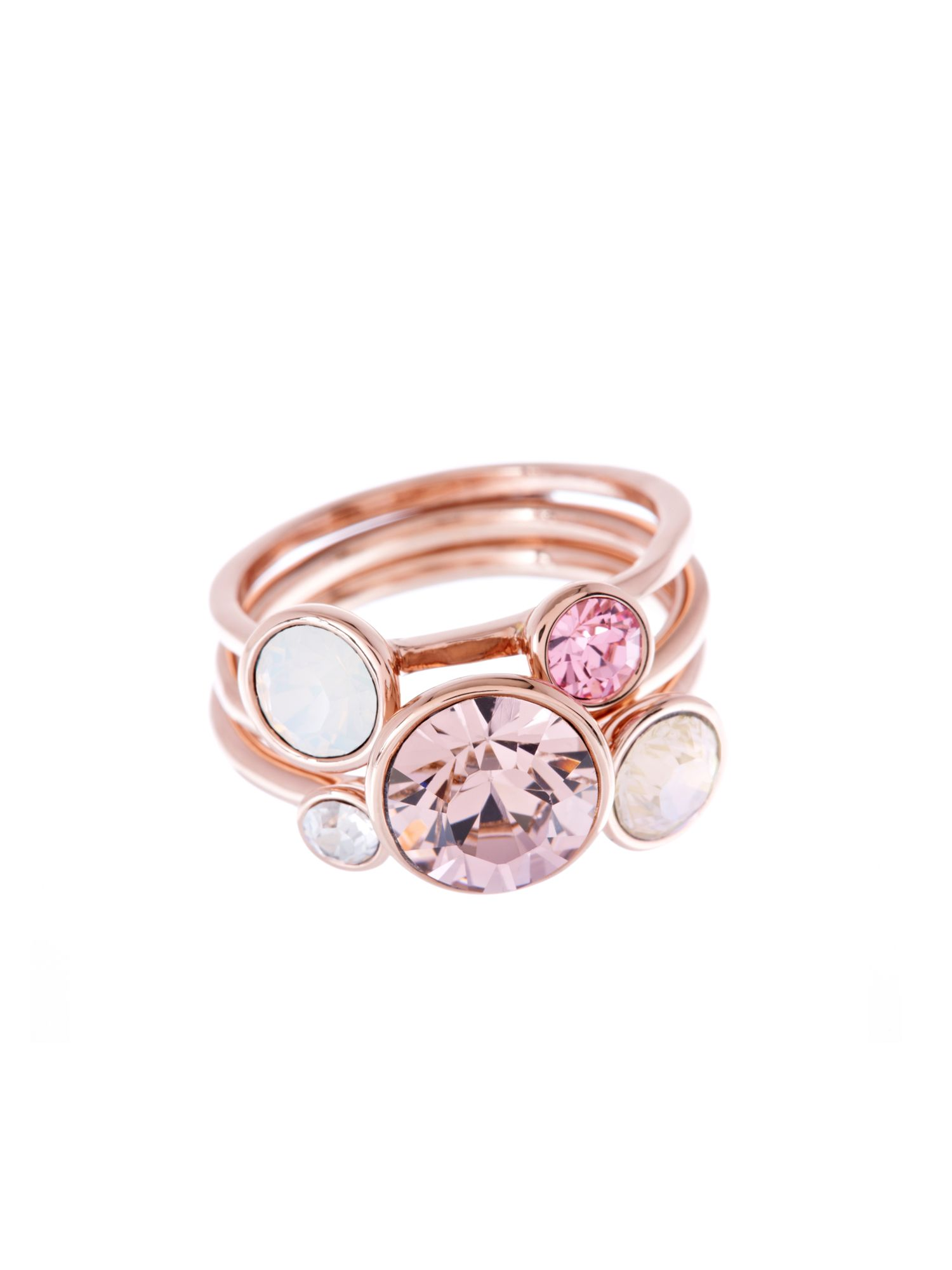Jackie Pink Jewel Stack Ring
