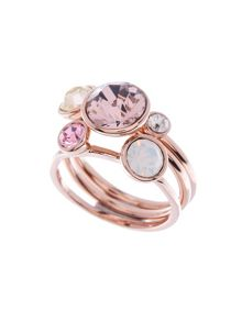 Ted Baker Jackie Pink Jewel Stack Ring