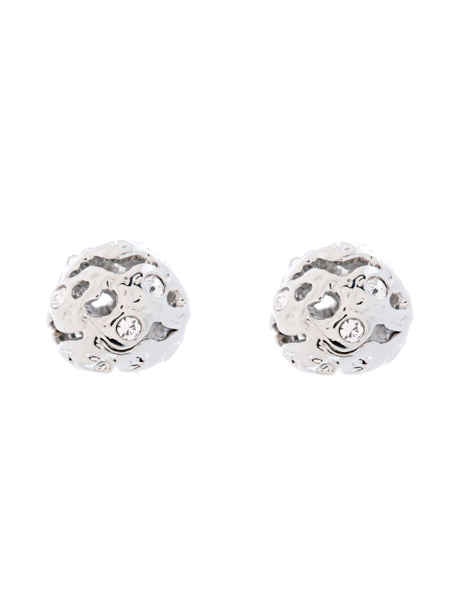 Frosted stud earrings