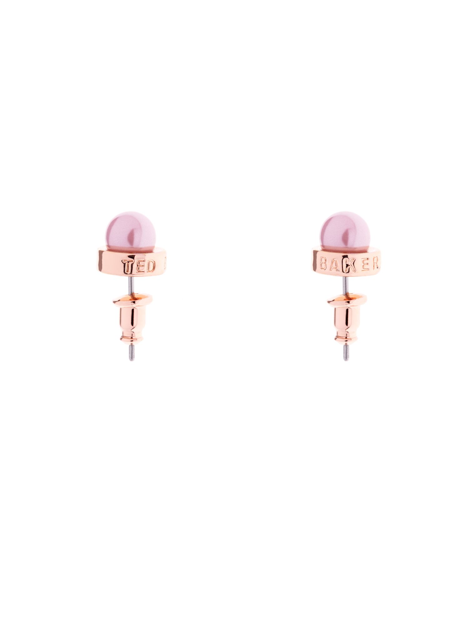 Perrin pearl stud earrings