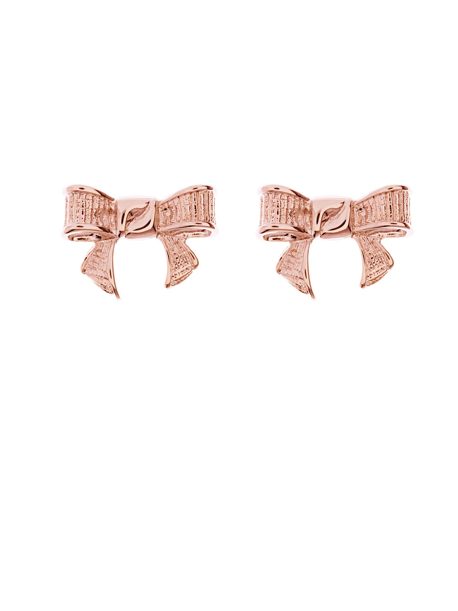 Glori grosgrain bow earrings