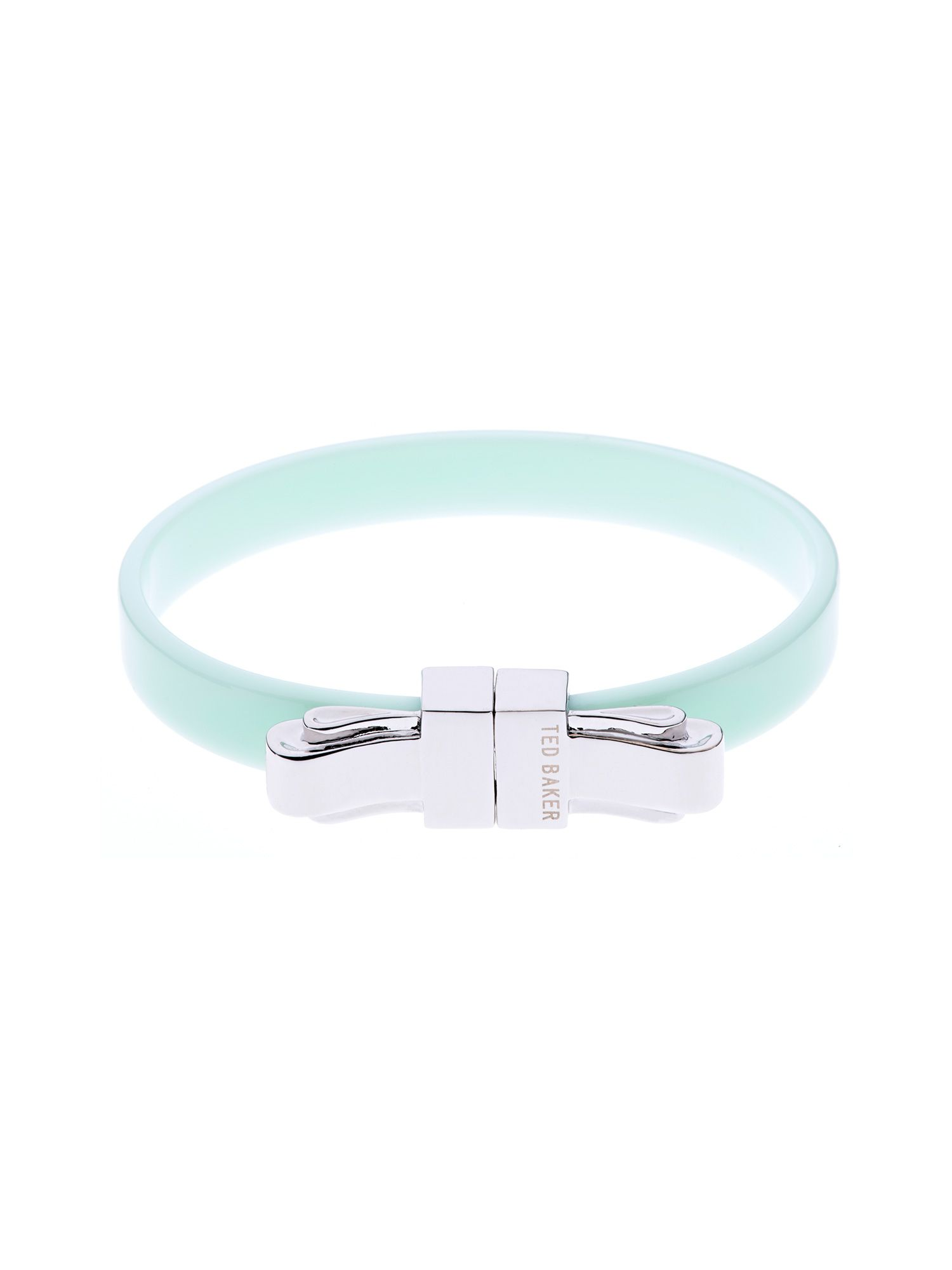 Kiah acrylic/metal bow bangle