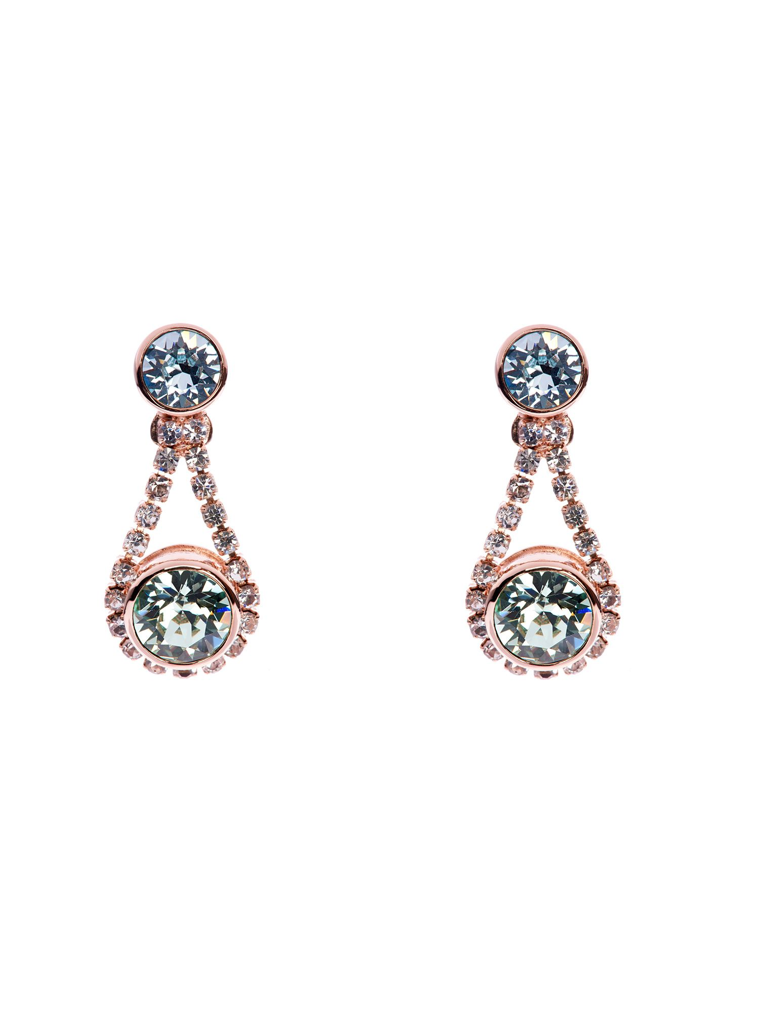 Stormm crystal chain drop earrings