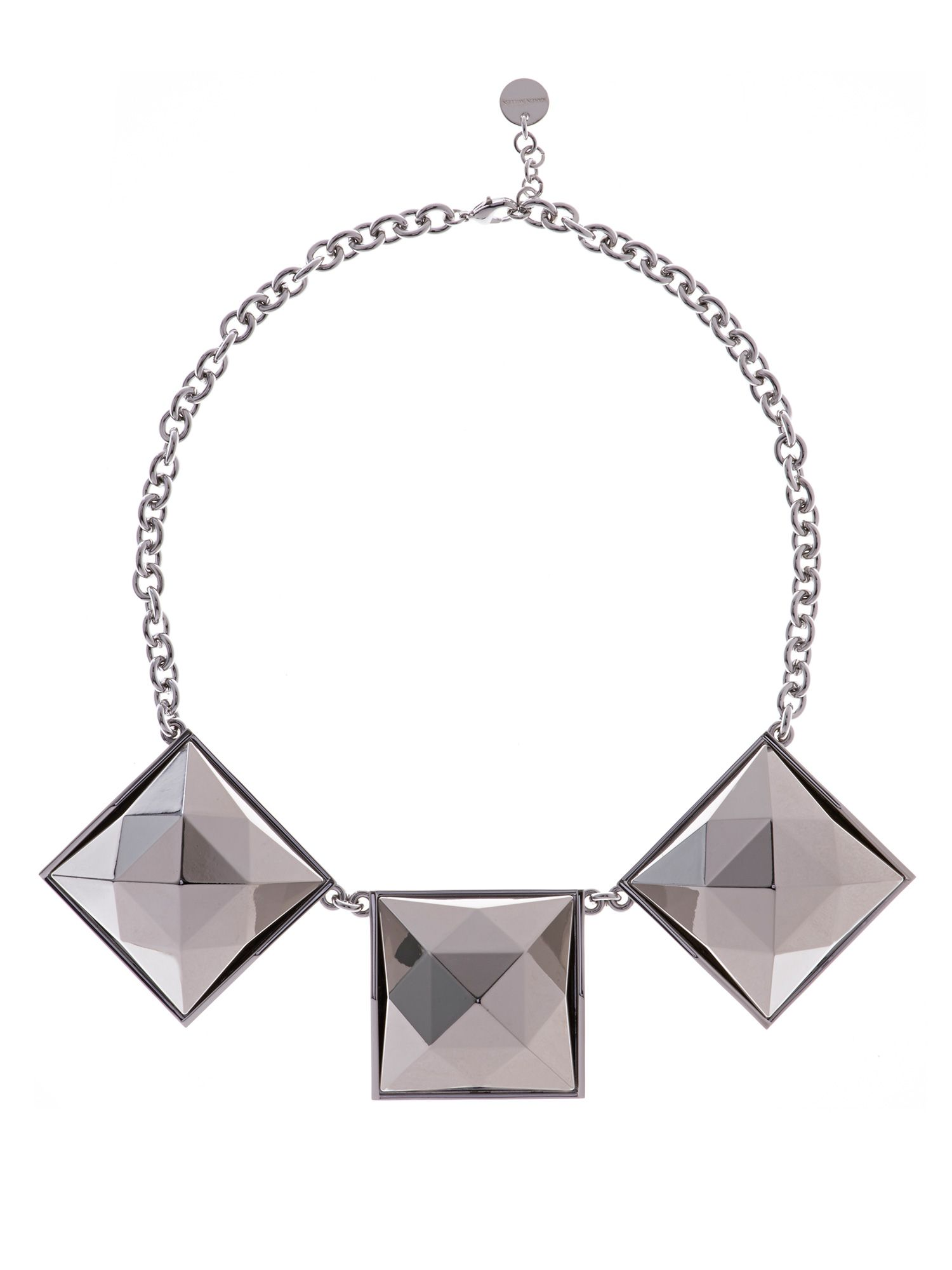 Pyramid stud necklace