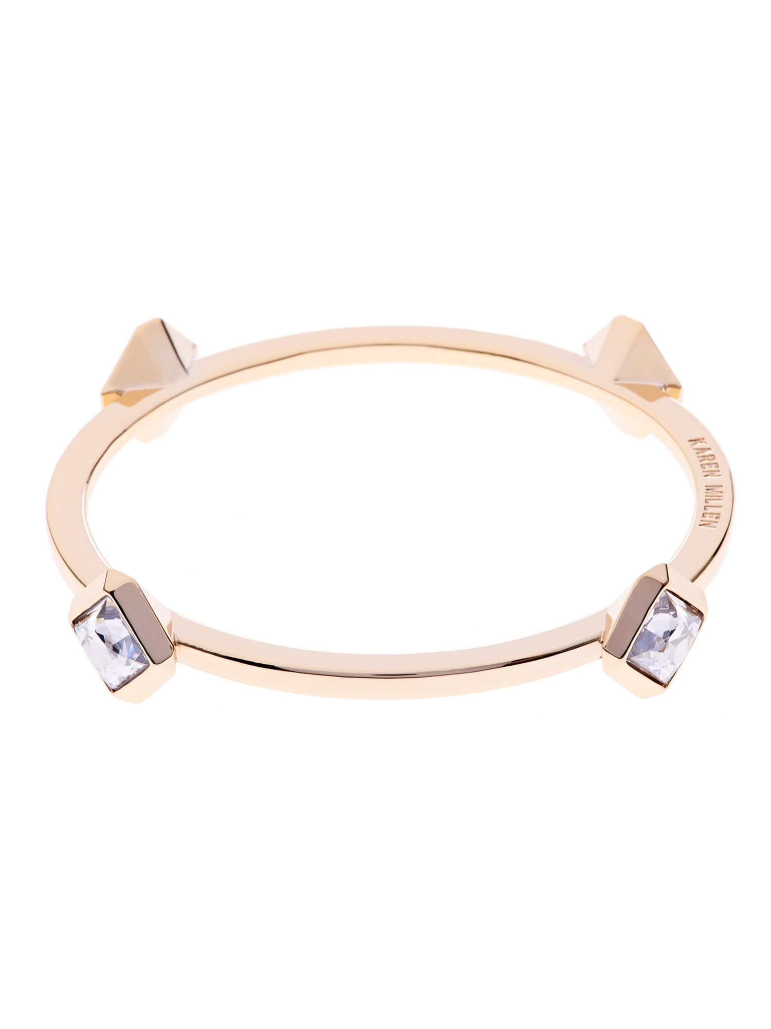 Geometric crystal bangle