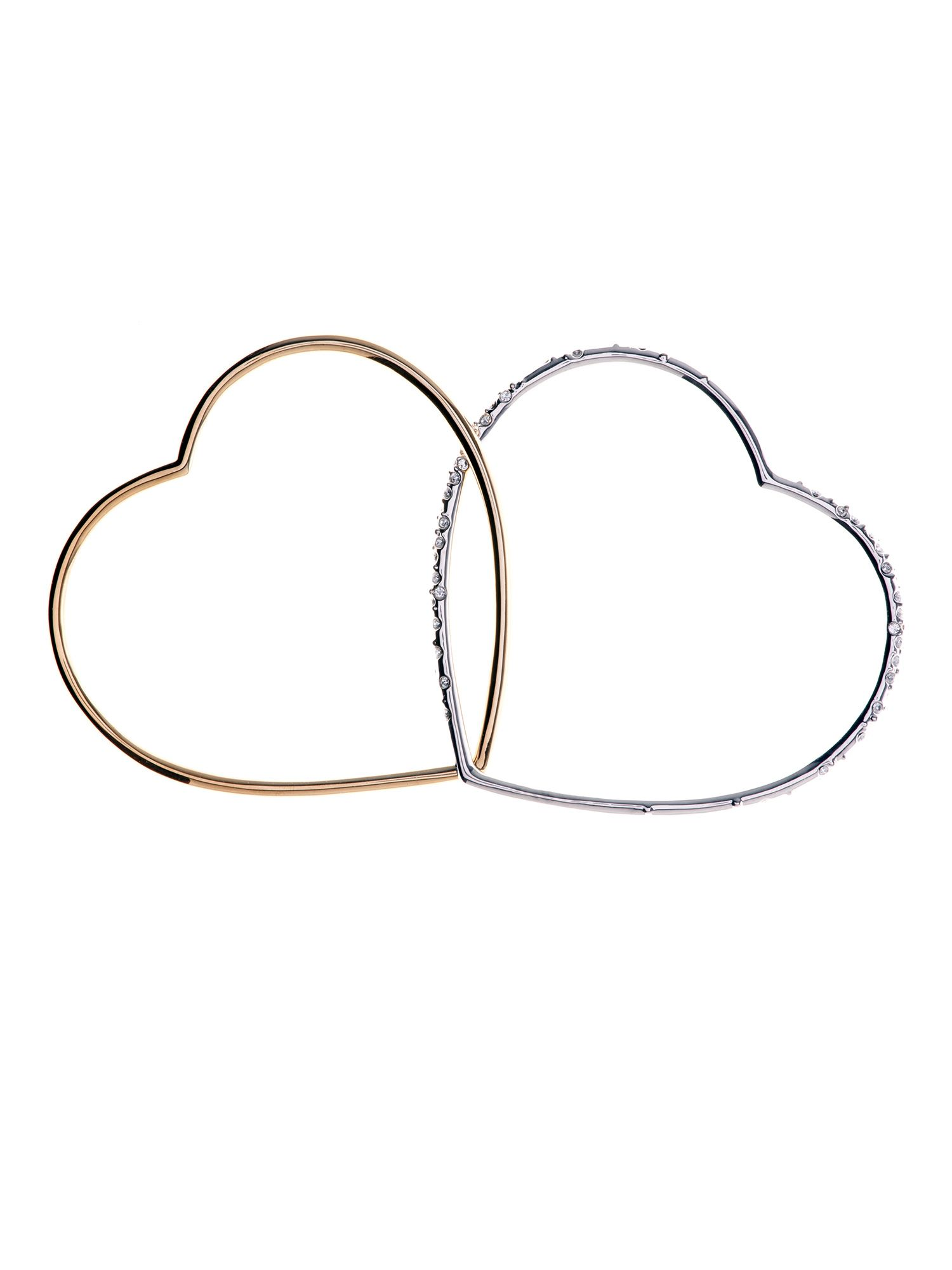 Linked heart bangles