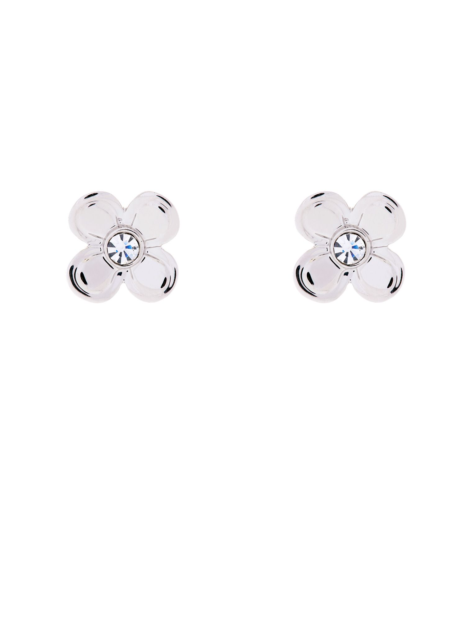 Crystal flower studs