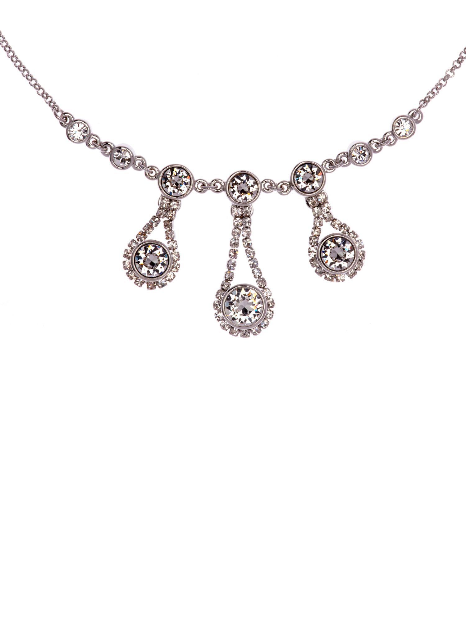 Starley crystal chain drop necklace