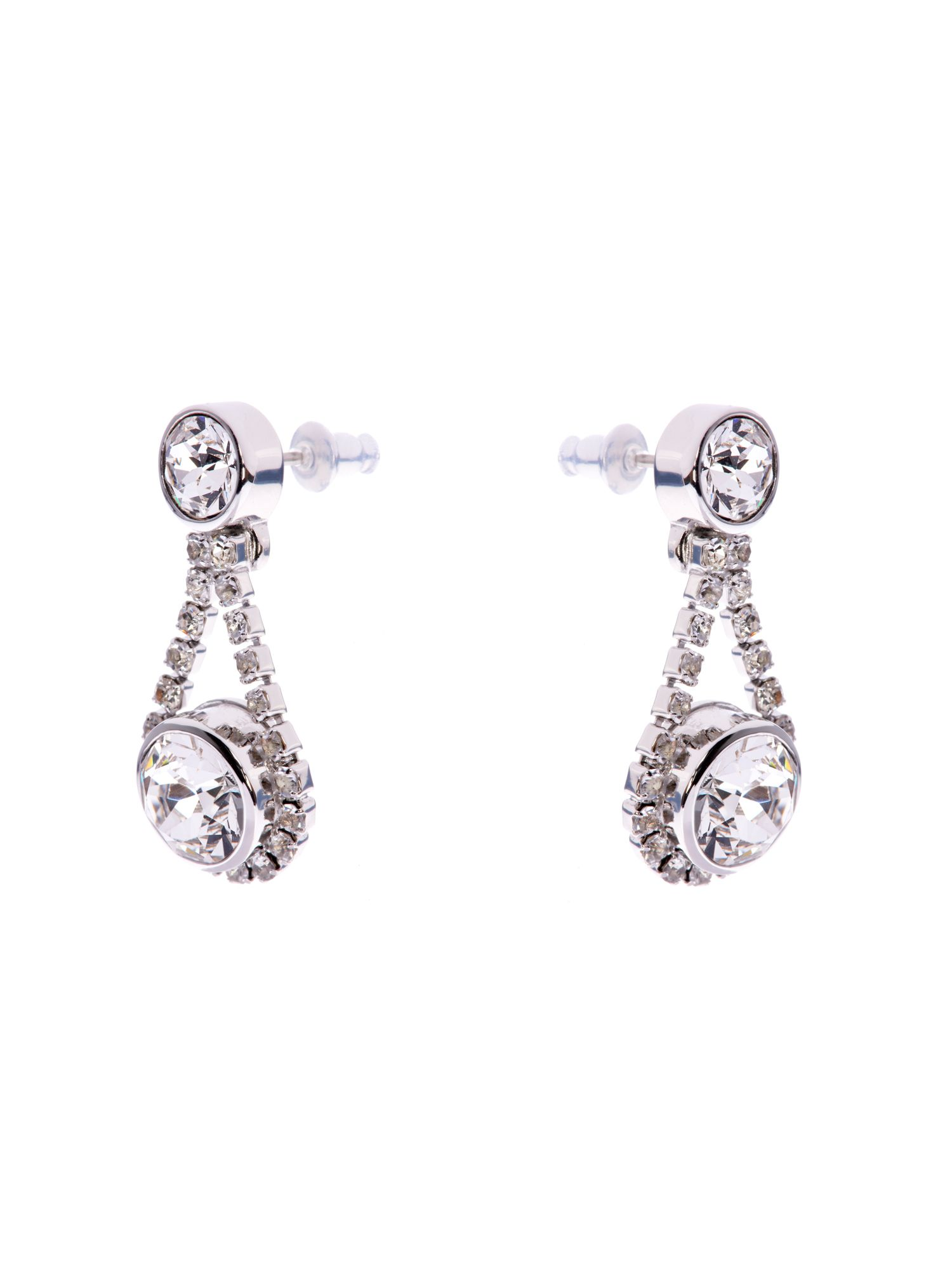 Stormm crystal chain drop earring