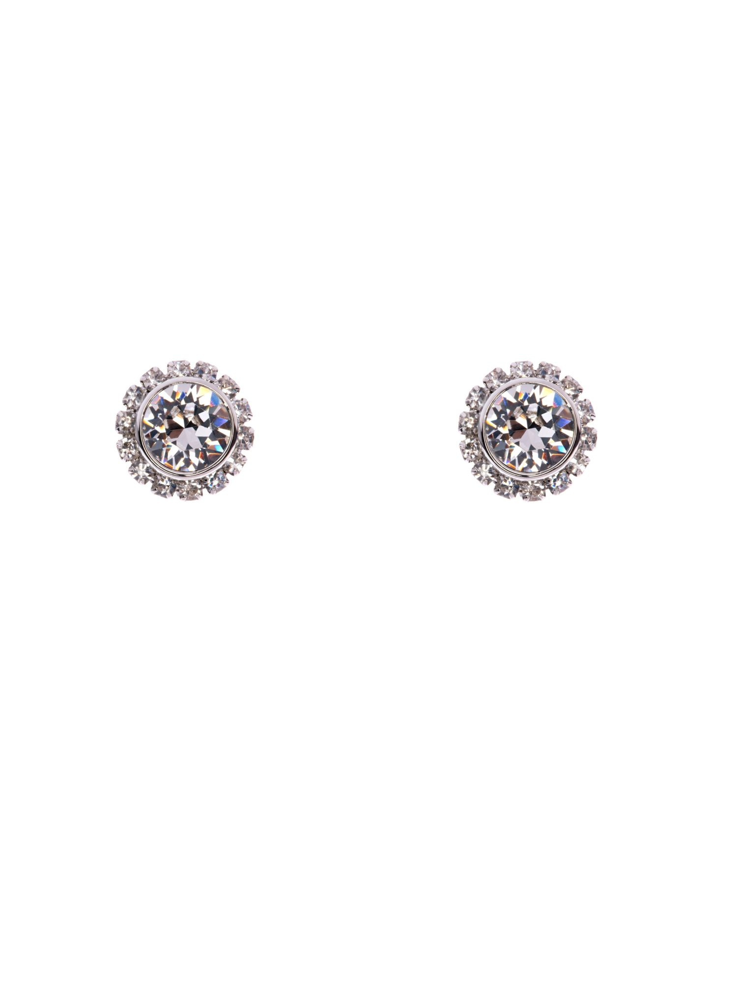 Sully crystal chain stud earring