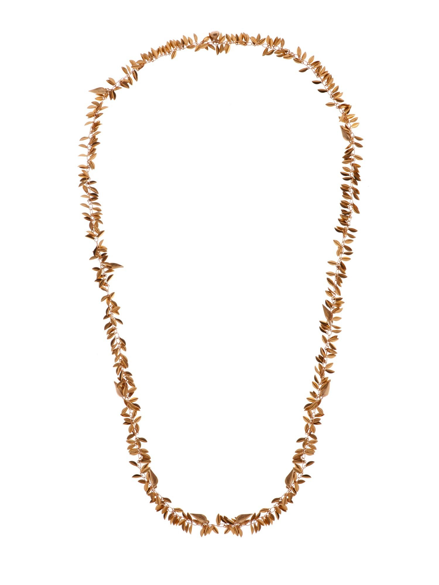 Lia leaf cluster long necklace