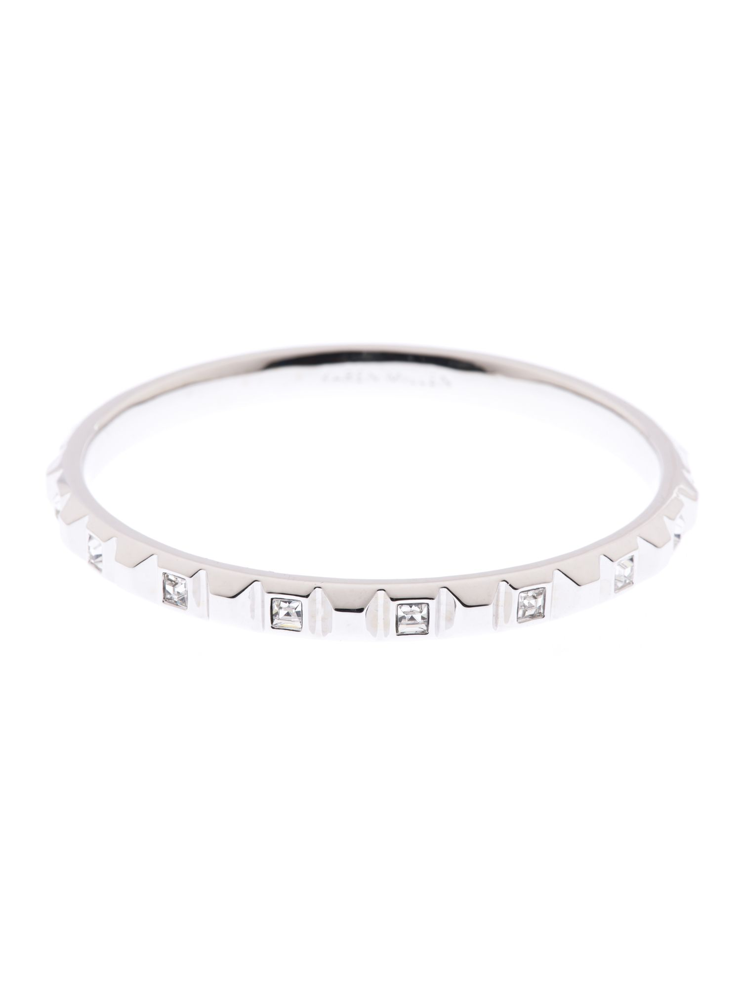 Square crystal stud bangle