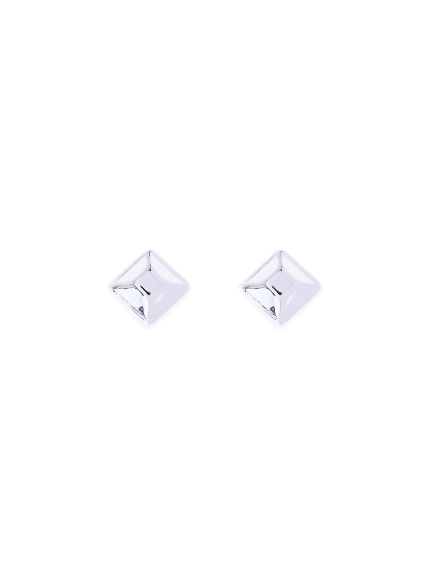 Plain square stud earring