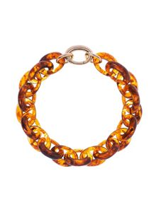 Resin oval link necklace
