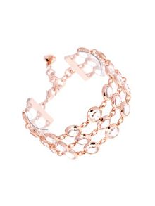 Gevah captured crystral 3 row bracelet