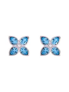 Floa: gem flower stud earring