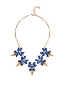 Arnah Gold & Blue Jewelled Arrow Necklace