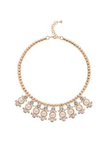 Orah Gold & Pearl Cluster Necklace
