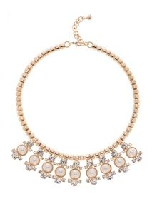 Ted Baker Orah Gold & Pearl Cluster Necklace